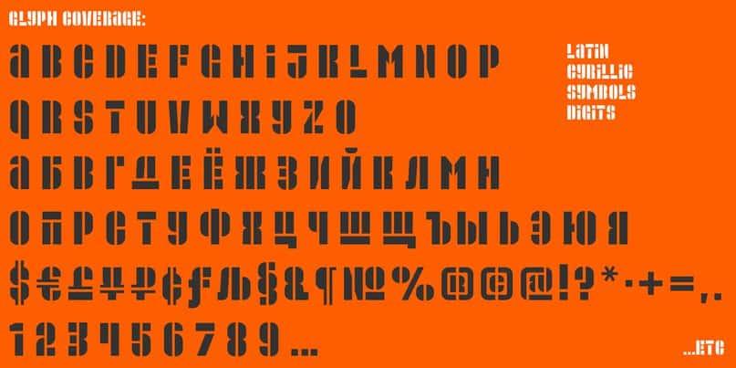 Promplate stencil шрифт скачать бесплатно