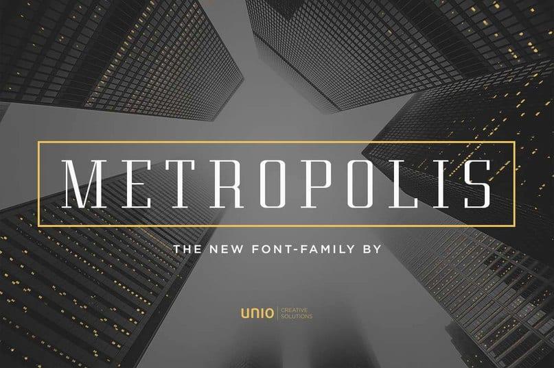 Metropolis Unio Cs шрифт скачать бесплатно