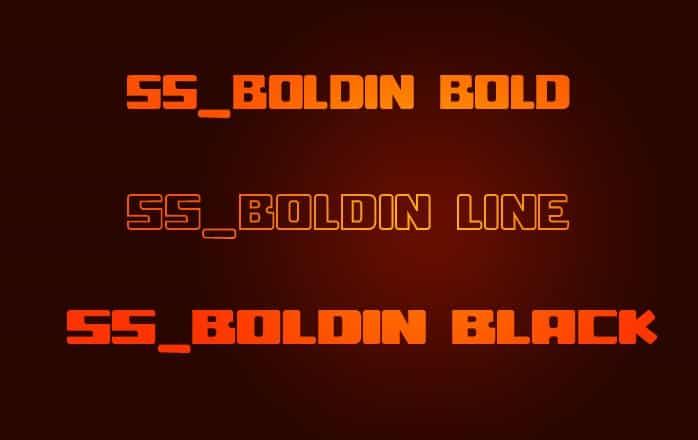 ss boldin шрифт скачать бесплатно