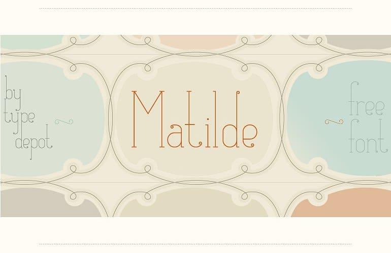 Matilde TDF шрифт скачать бесплатно