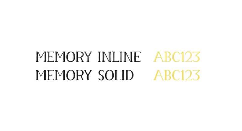 Memory Typeface шрифт скачать бесплатно