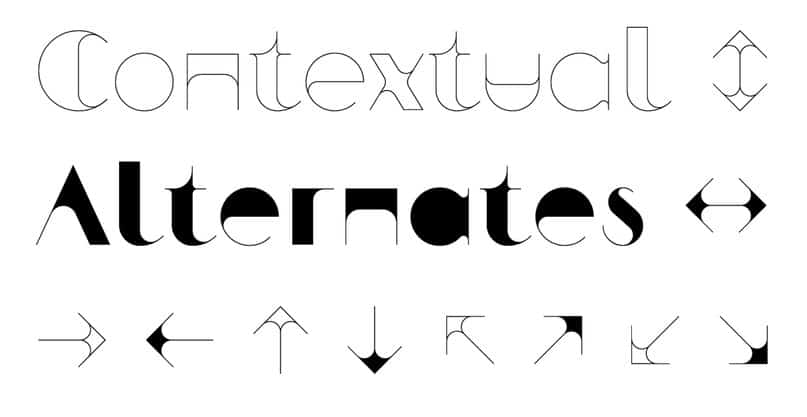 Zarif typeface шрифт скачать бесплатно