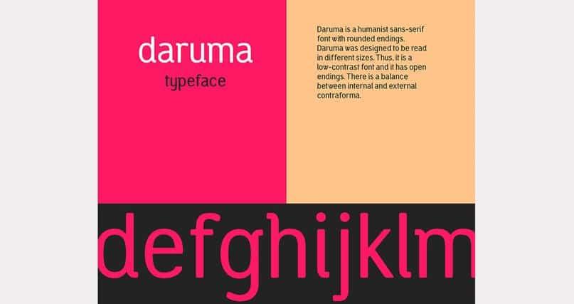 Daruma typefamily шрифт скачать бесплатно