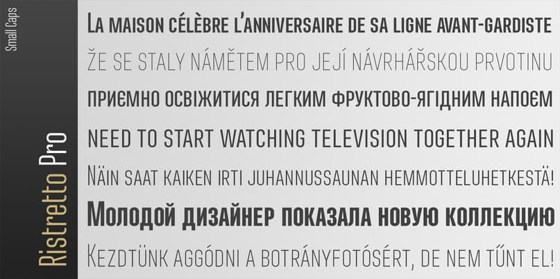 Ristretto Pro Regular шрифт скачать бесплатно