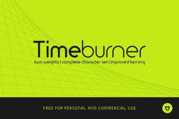 TimeBurner шрифт скачать бесплатно