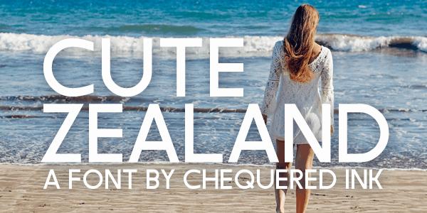 Cute Zealand шрифт скачать бесплатно