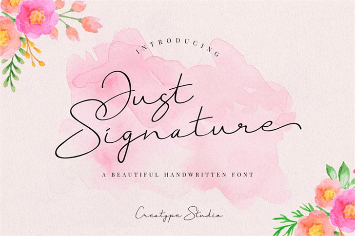 Just Signature шрифт скачать бесплатно