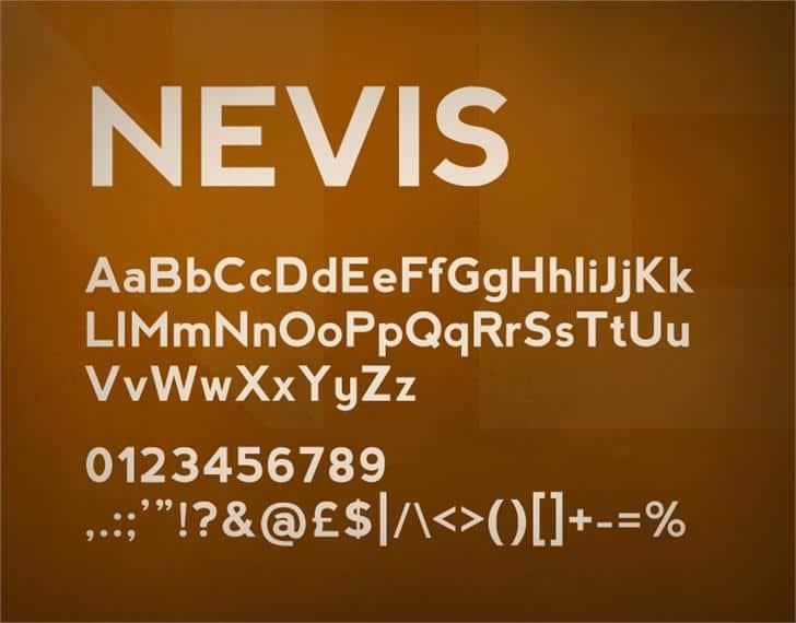 Nevis шрифт скачать бесплатно