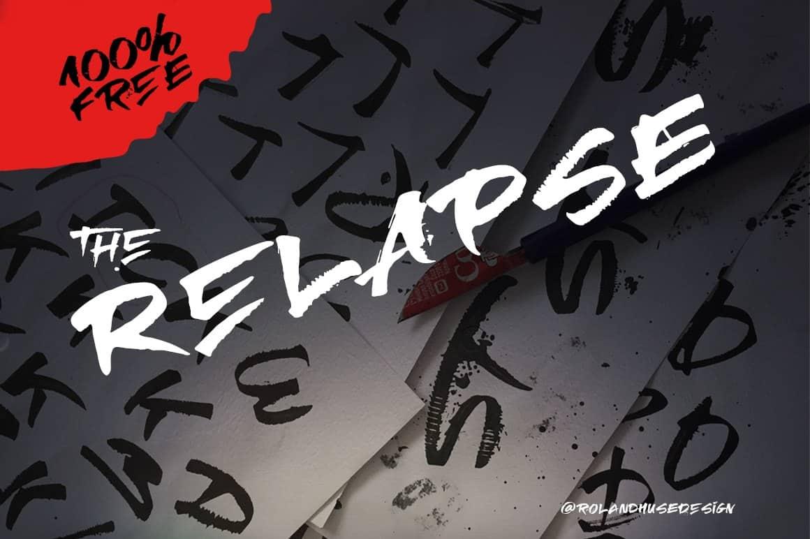 RElapse шрифт скачать бесплатно