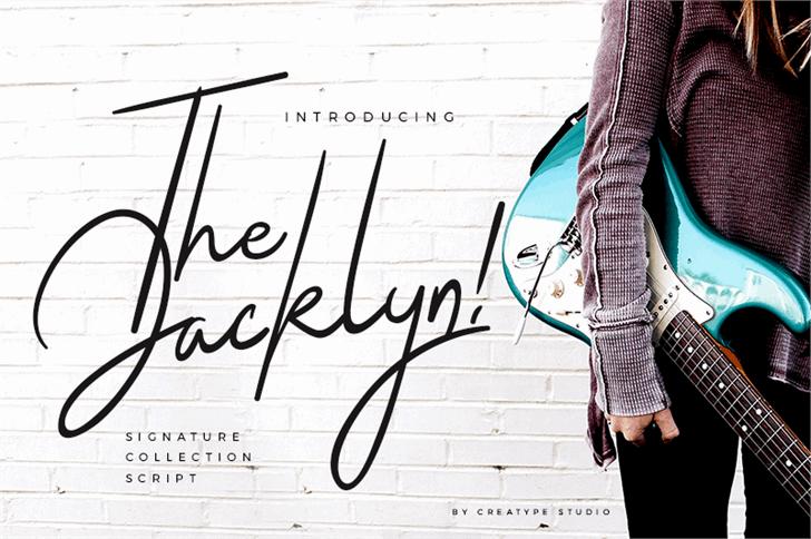 The Jacklyn шрифт скачать бесплатно