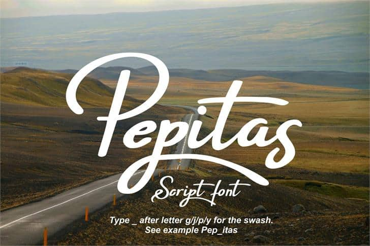 Pepitas шрифт скачать бесплатно