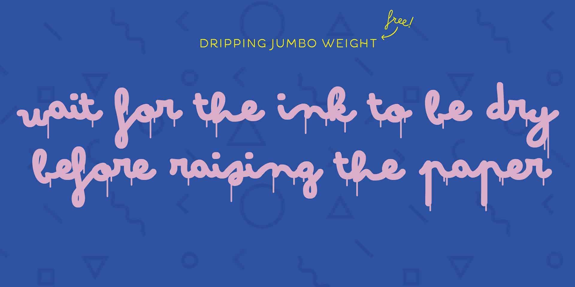 Bimbo Dripping Jumbo шрифт скачать бесплатно