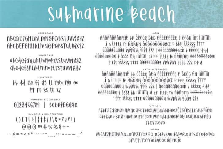 Submarine Beach шрифт скачать бесплатно