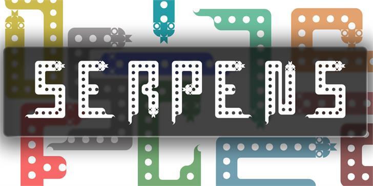 Serpens шрифт скачать бесплатно