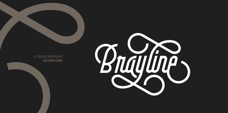 Brayline шрифт скачать бесплатно