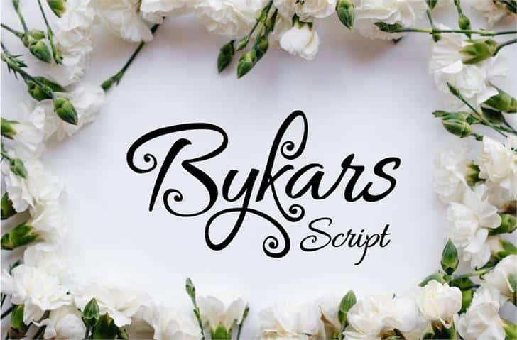 Bykars шрифт скачать бесплатно