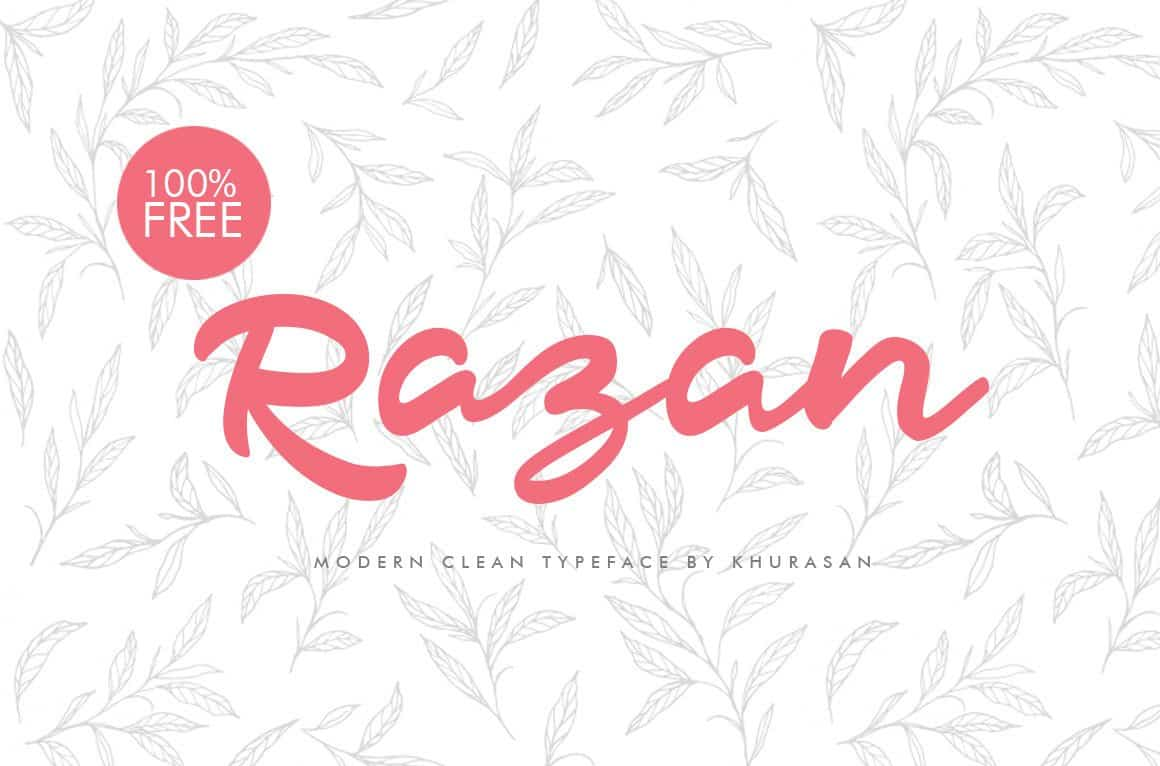 Razan Script шрифт скачать бесплатно