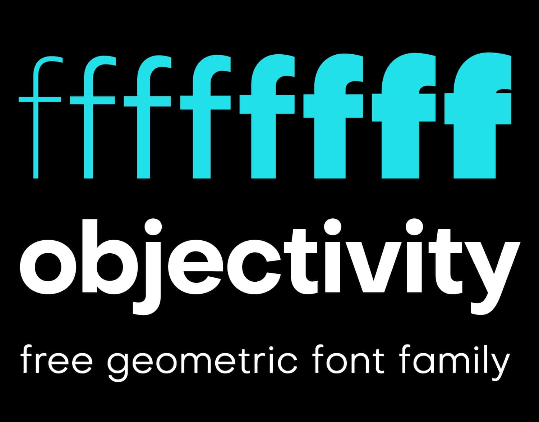 Objectivity шрифт скачать бесплатно