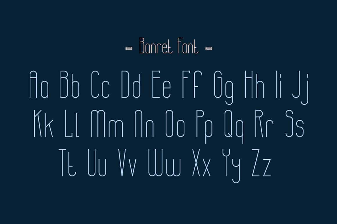 Banret   шрифт скачать бесплатно