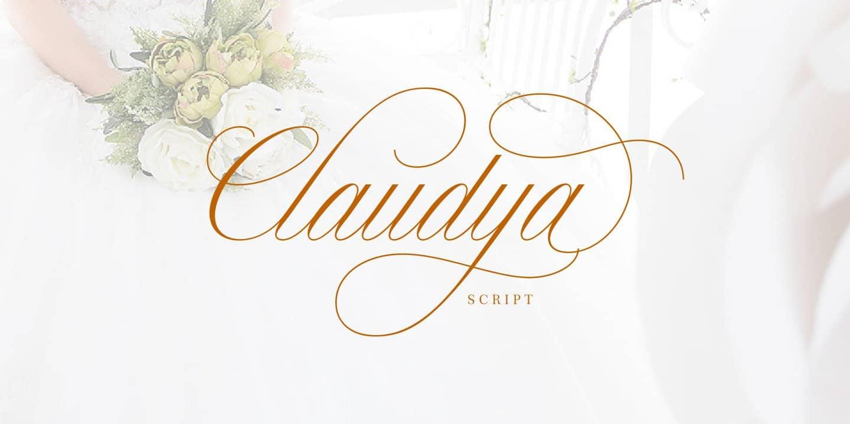 Claudya Script шрифт скачать бесплатно