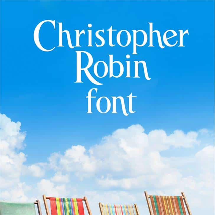 Christopher Robin шрифт скачать бесплатно