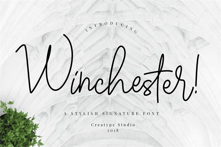 Winchester шрифт скачать бесплатно