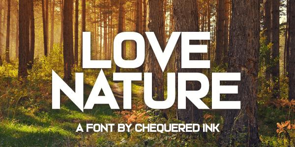 Love Nature шрифт скачать бесплатно