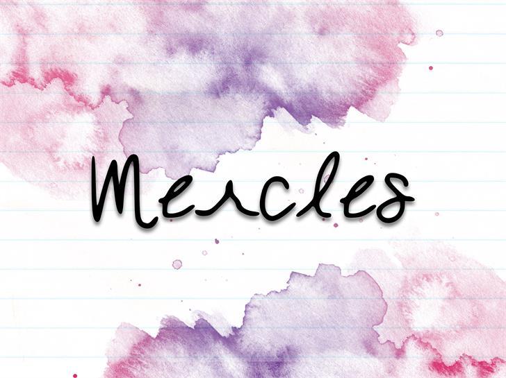 Mercles шрифт скачать бесплатно
