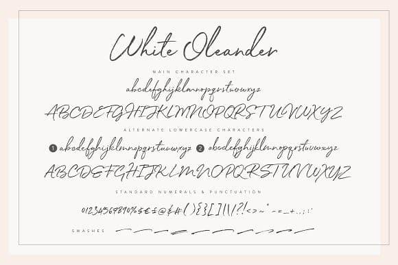 White Oleande шрифт скачать бесплатно