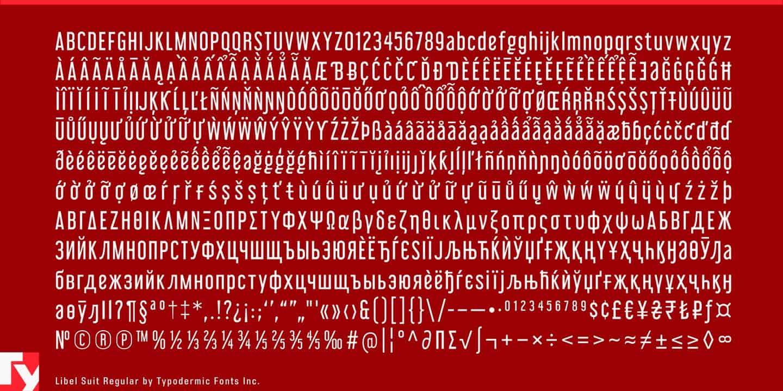 Libel Suit Regular шрифт скачать бесплатно