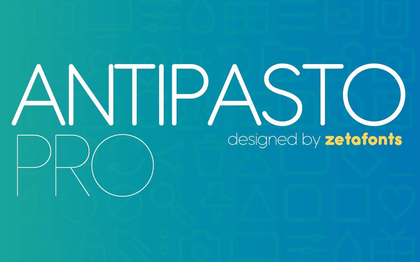 Antipasto Pro шрифт скачать бесплатно