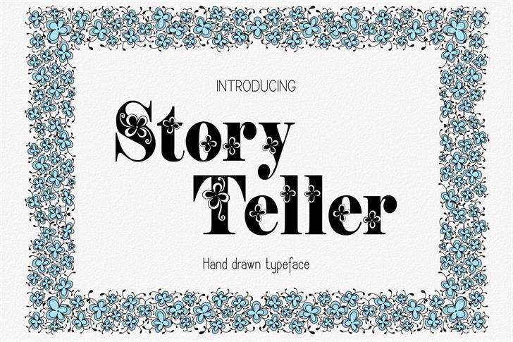 Storyteller шрифт скачать бесплатно