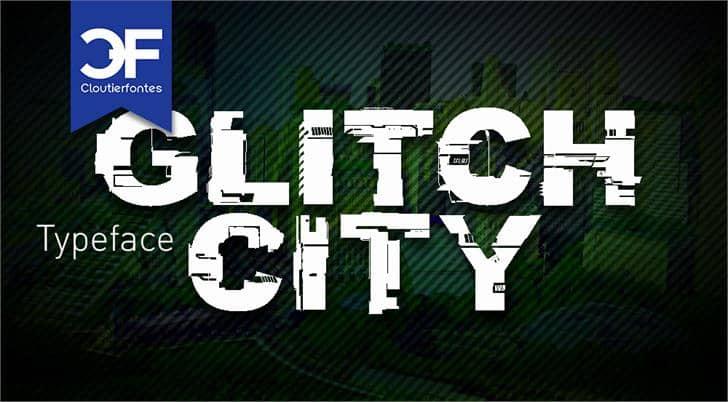 Glitch City шрифт скачать бесплатно