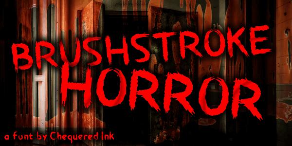 Brushstroke Horror шрифт скачать бесплатно
