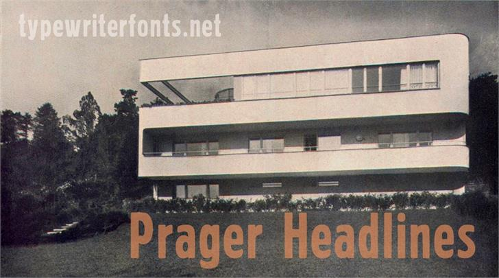 Prager Headlines шрифт скачать бесплатно