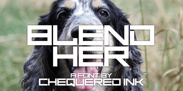 Blend Her шрифт скачать бесплатно