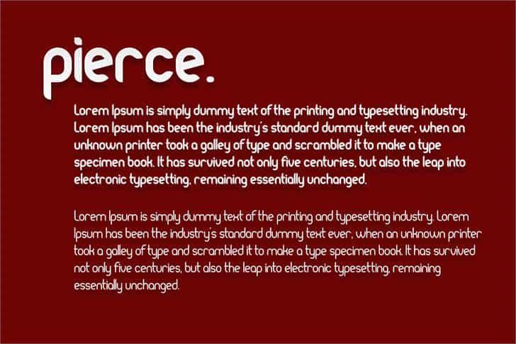 Pierce шрифт скачать бесплатно