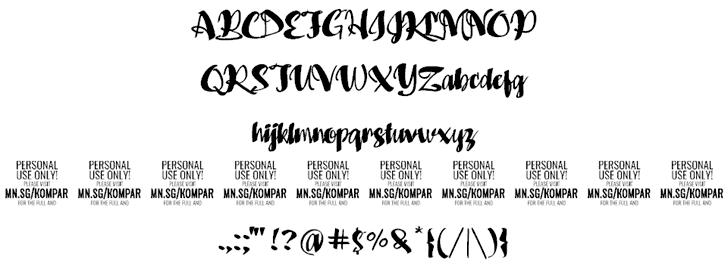Kompar Black шрифт скачать бесплатно