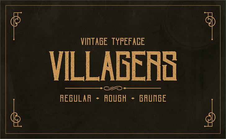 Villagers шрифт скачать бесплатно