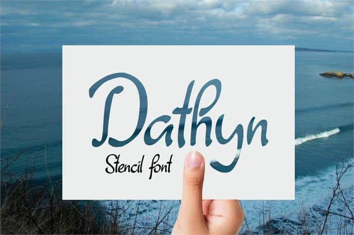 Dathyn шрифт скачать бесплатно