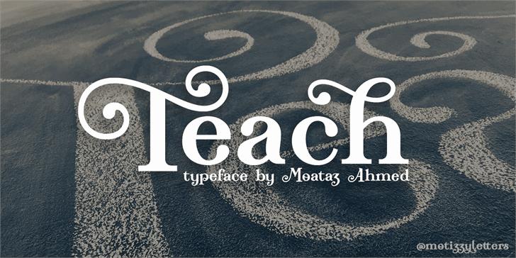 Teach шрифт скачать бесплатно
