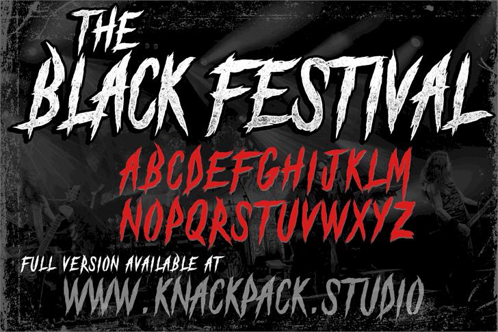 The Black Festival шрифт скачать бесплатно