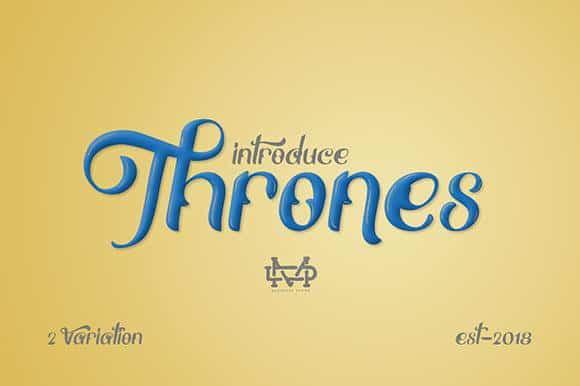 Thrones шрифт скачать бесплатно