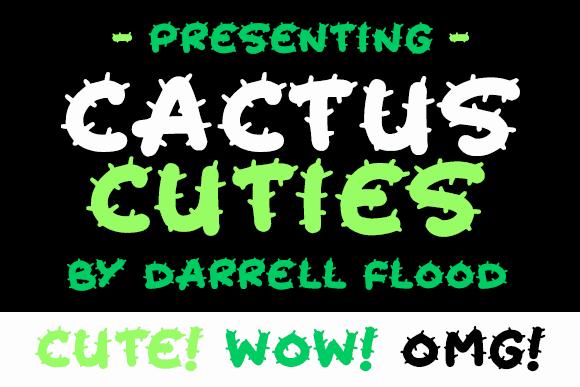 Cactus Cuties шрифт скачать бесплатно