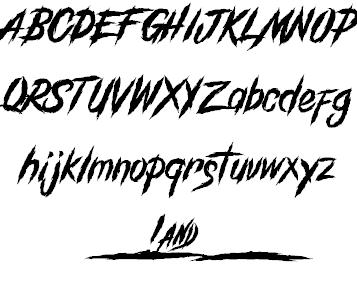 GrindAndDeath шрифт скачать бесплатно