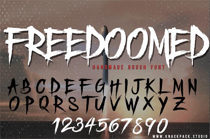 Freedoomed шрифт скачать бесплатно