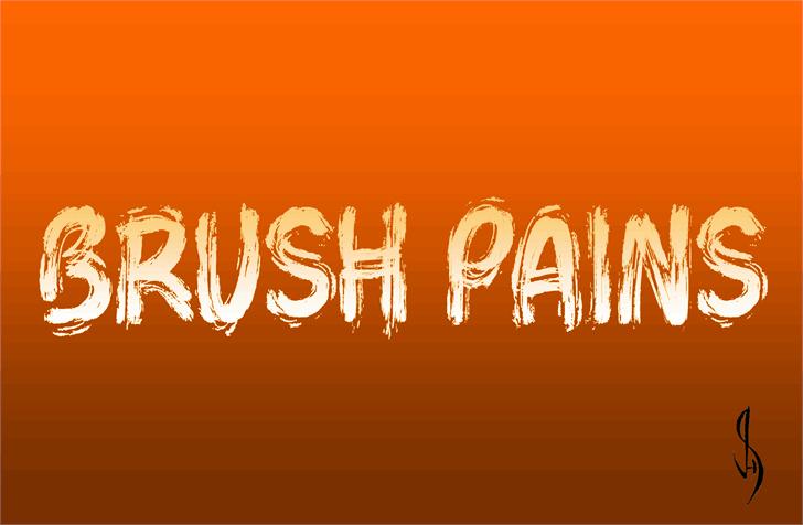 Brush Pains шрифт скачать бесплатно