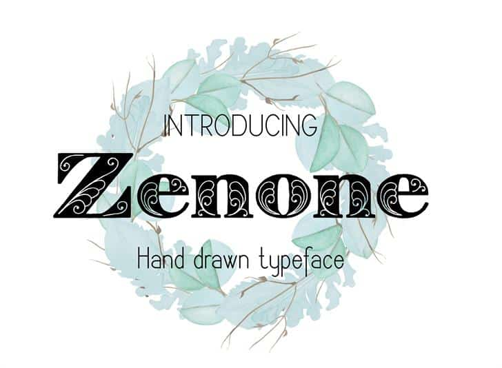 Zenone шрифт скачать бесплатно