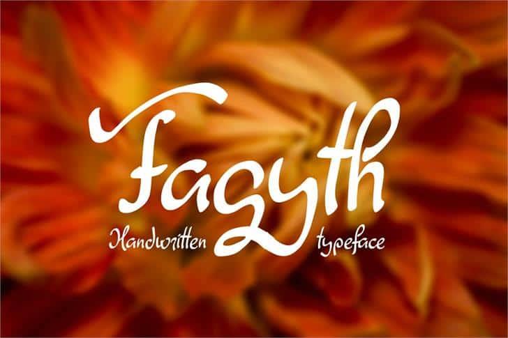 Fagyth шрифт скачать бесплатно