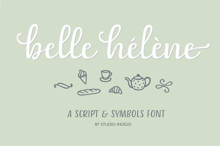 Belle-Helene шрифт скачать бесплатно